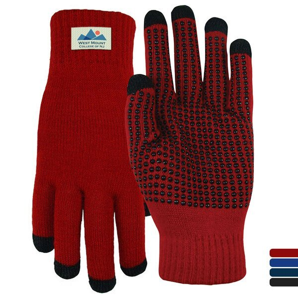 Acrylic 5-Finger Touchscreen Gripper Gloves