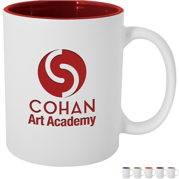 Pop of Color Engraved Ceramic Mug, 11oz.