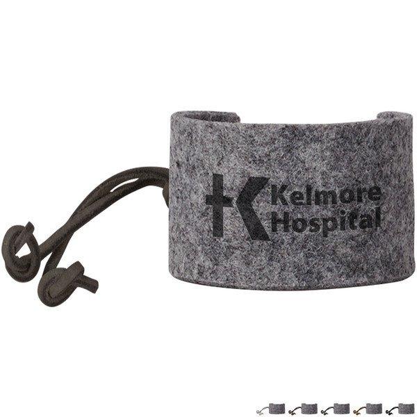 Ash Recycled Felt Cuff Bracelet