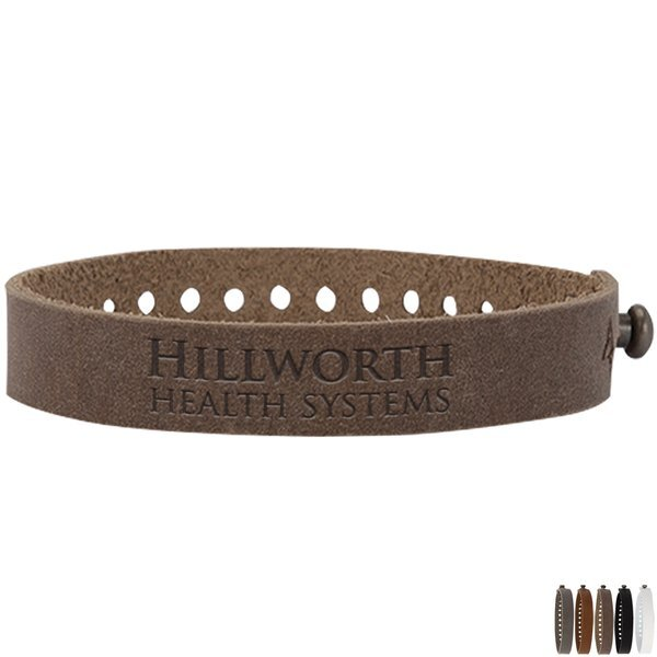 Drayman Basic Leather Post Bracelet