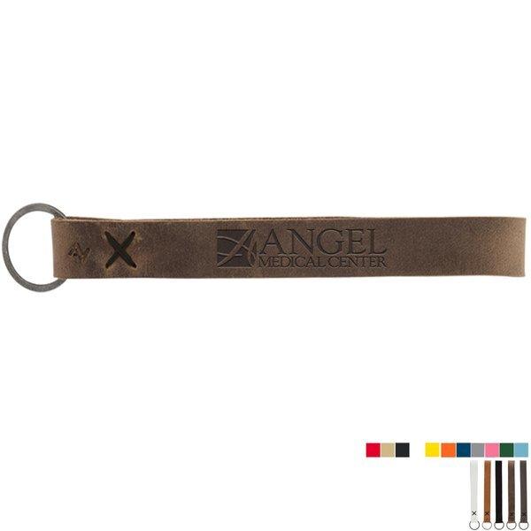 Hayward Leather Wrist Keychain w/ Metal Split Ring