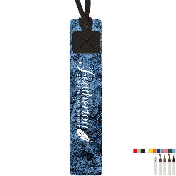 Crestone Recycled Dye-Sublimated Felt Tasseled Bookmark