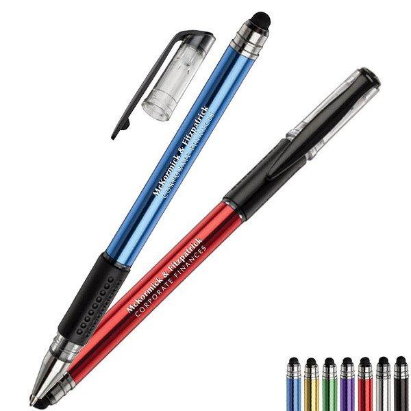 Icon Cap-Off Metal Stylus Gel Pen