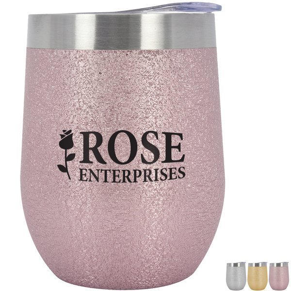 Iced Out Vinay Stemless Wine Cup, 12oz.