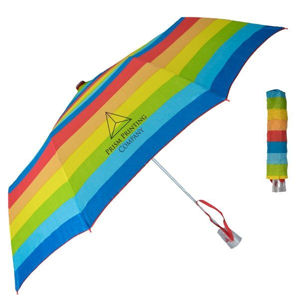 "Rainbow Auto Open Umbrella, 44"""