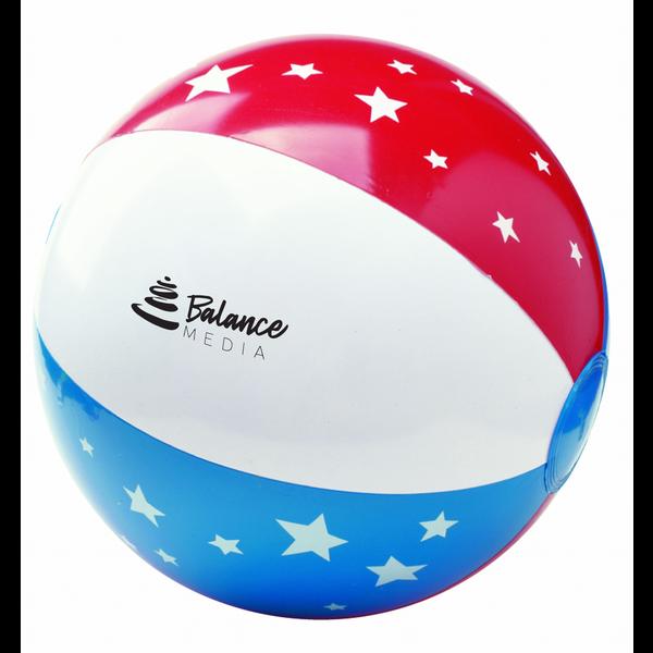 "Patriotic Stars & Stripes Beach Ball, 16"""