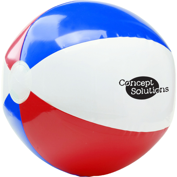 "Patriotic Red, White & Blue Beach Ball, 16"""