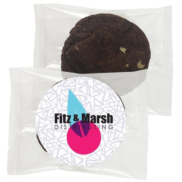 Gourmet Double Chocolate Walnut Cookie, Individually Wrapped