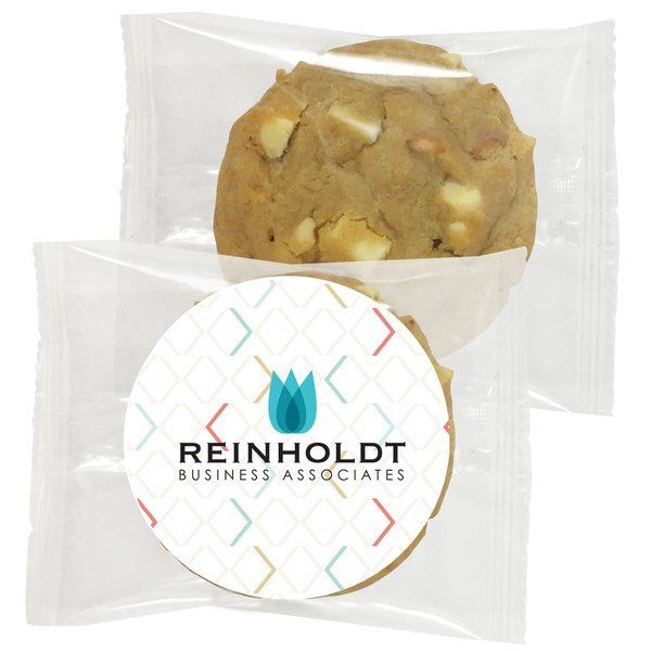Gourmet White Chocolate Macadamia Cookie, Individually Wrapped