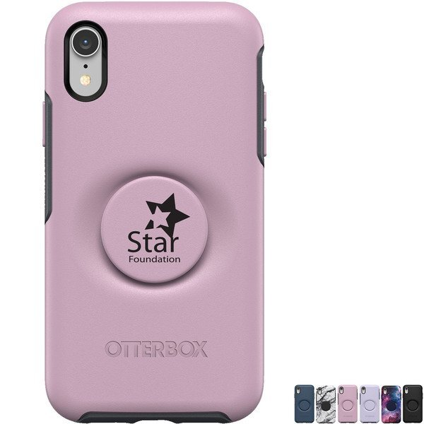 Otter + Pop Symmetry Phone Case & Grip for iPhone XR
