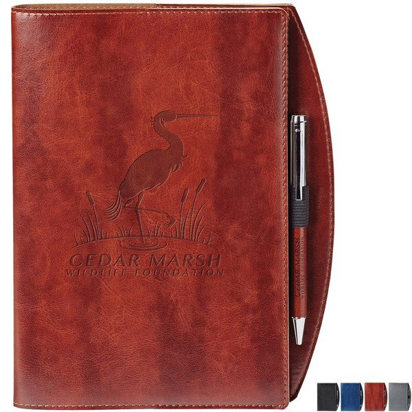 "Fabrizio Refillable Journal w/ Matching Pen, 7-1/2"" x 9-1/2"""