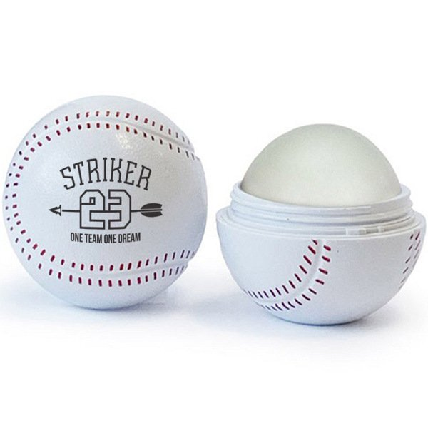 Baseball Shaped Lip Balm, SPF-15