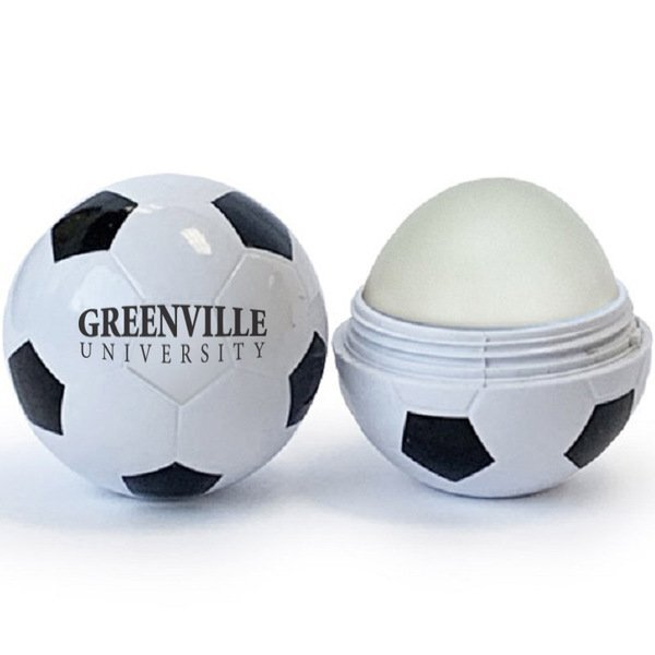 Soccer Ball Shaped Lip Balm, SPF-15
