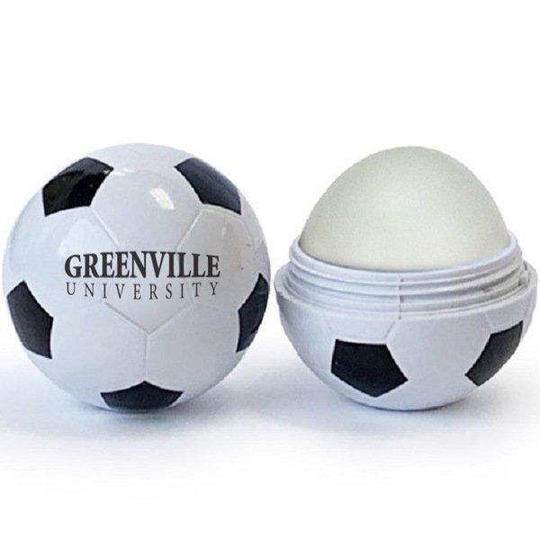 Soccer Ball Shaped Lip Balm, SPF-15