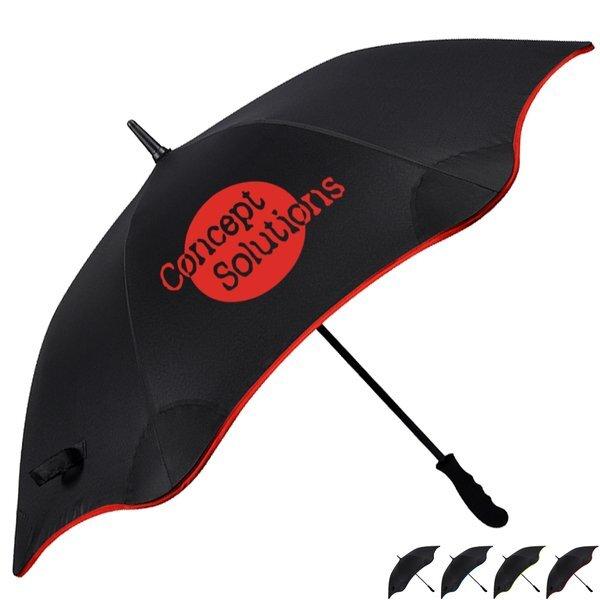 """Scalloped Edge Auto Open Umbrella, 46"""" Arc"""