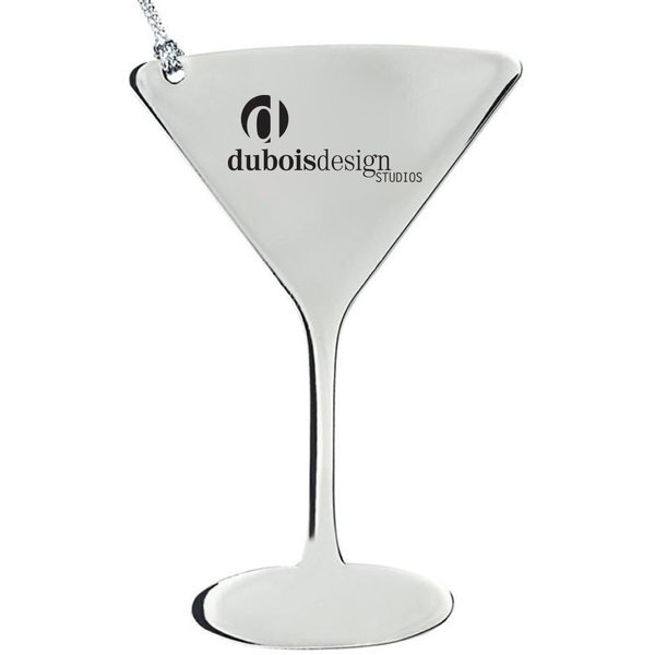 Wine Glass Stainless Steel Ornament