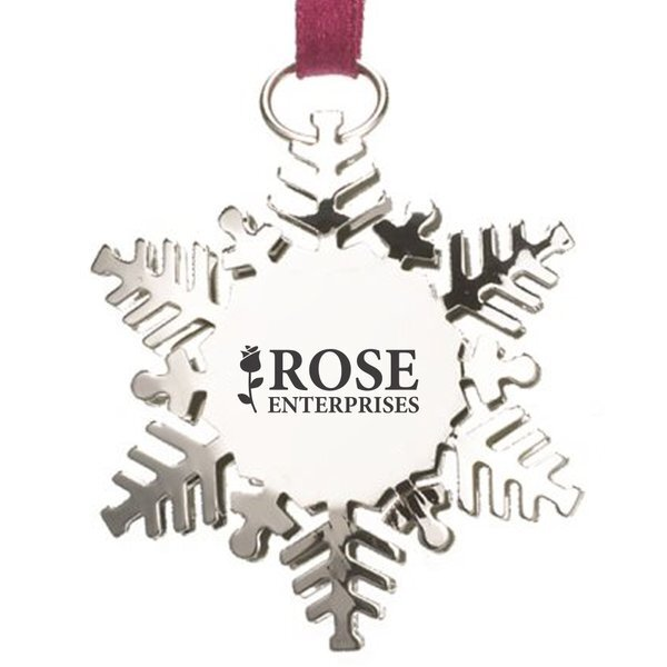 Snowflake Stainless Steel Charm Ornament