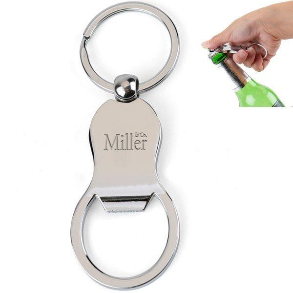 Chrome Bottle Opener Key Tag