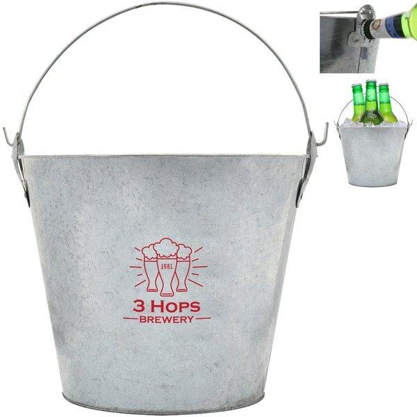 Bevy Beverage Bucket w/ Built-In Bottle Openers, 5 Liter