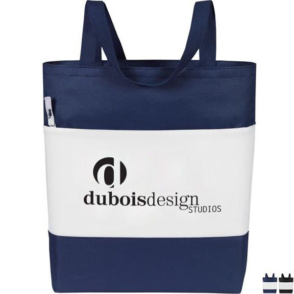 Color Panel Polyester Convention Tote