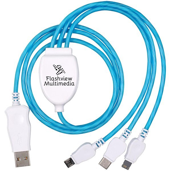 Moving Light 3 Way Charging Cable