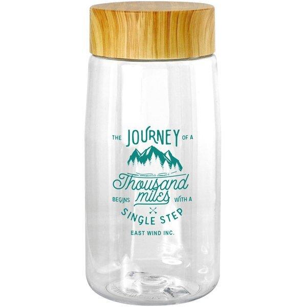 Bamboo Lid Water Bottle, 18oz.