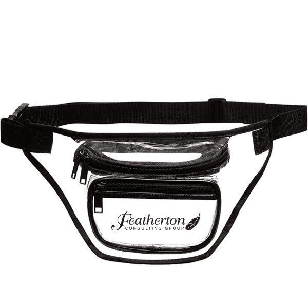Clear PVC 3-Zipper Fanny Pack