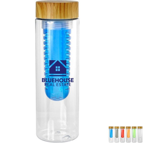 Bamboo Lid Bottle w/ Colorful Infuser, 24oz.