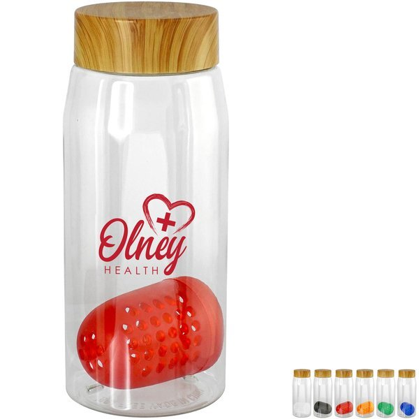 Bamboo Lid Bottle w/ Colorful Floating Infuser, 25oz.