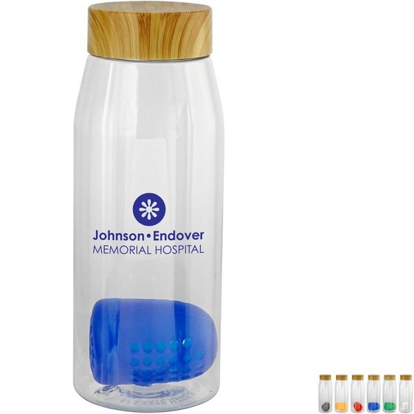 Bamboo Lid Bottle w/ Colorful Floating Infuser, 32oz.