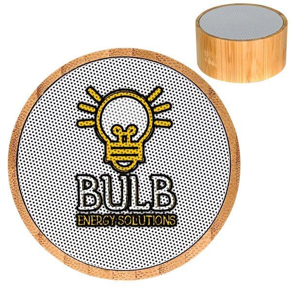 Bamboo Wireless Hockey Puck Bluetooth Speaker