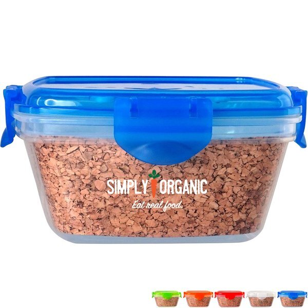 Cork Clip Top Container, Full Color Imprint