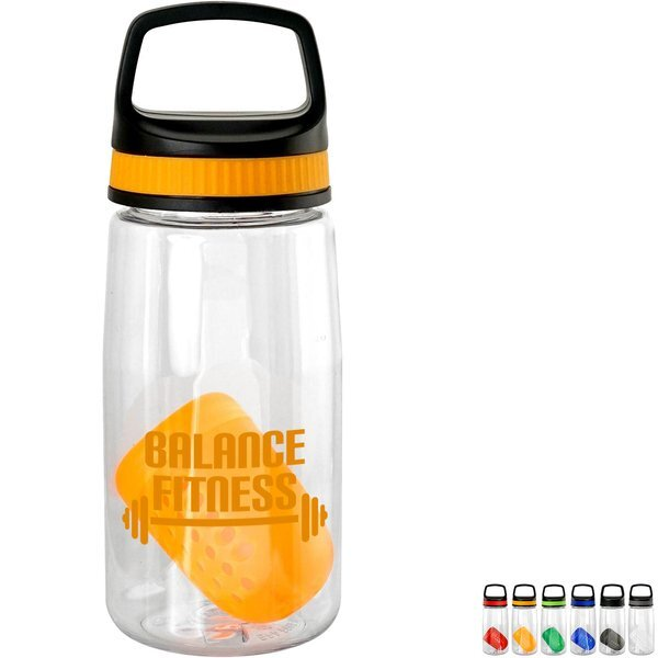 Handy Band-It Bottle w/ Colorful Floating Infuser, 18oz.