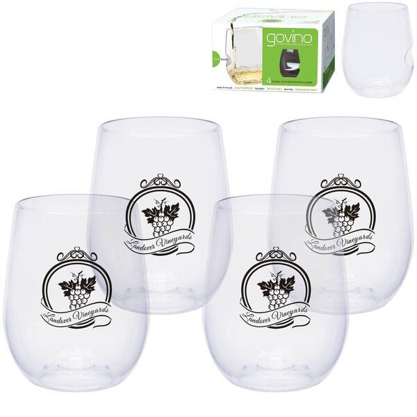Dishwasher Safe Govino® Wine / Cocktail Glass 4 Pack, 12oz.