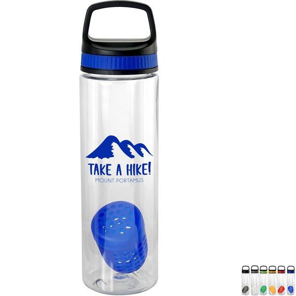 Handy Band-It Bottle w/ Colorful Floating Infuser, 24oz.