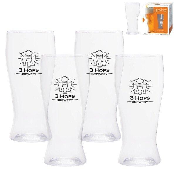 Dishwasher Safe Govino® Beer Glass 4 Pack, 16oz.