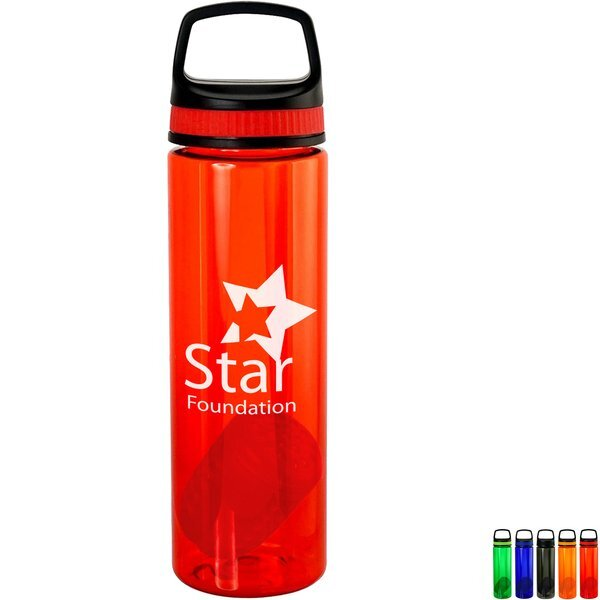 Handy Band-It Colorful Bottle w/ Floating Infuser, 24oz.