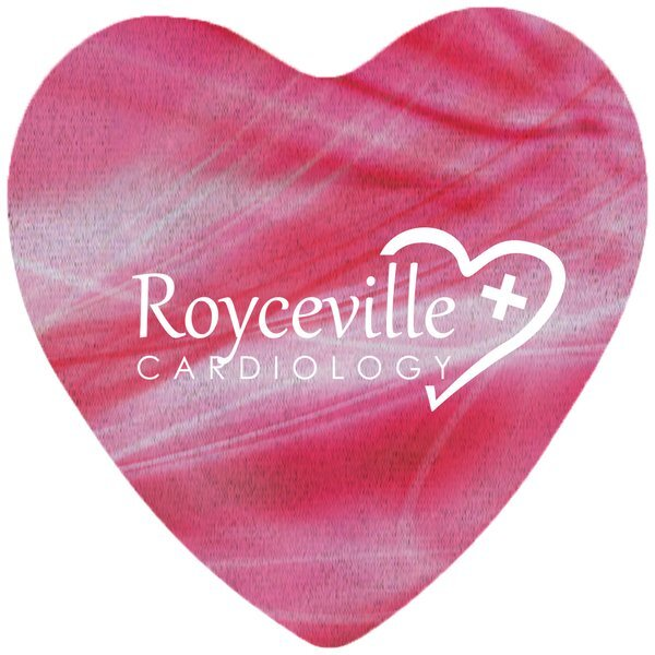 Heart Shaped Microfiber Cleaning Cloth, Full Color Imprint