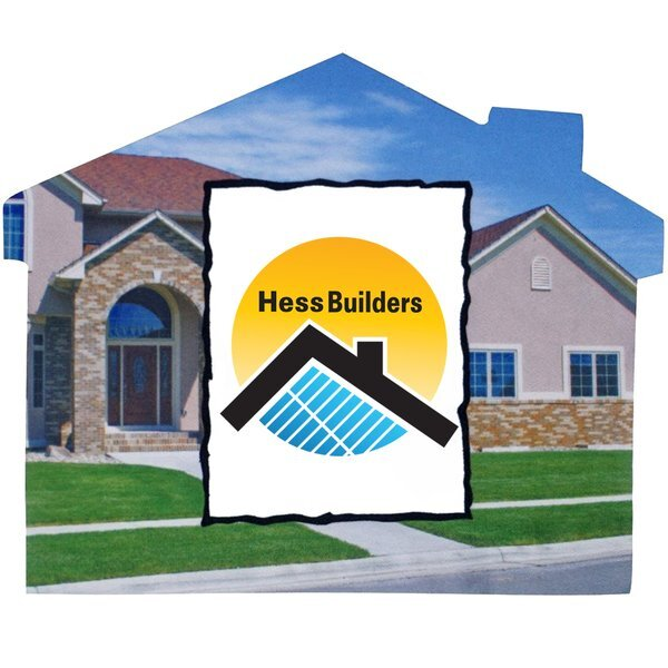 House Shaped Microfiber Cleaning Cloth, Full Color Imprint
