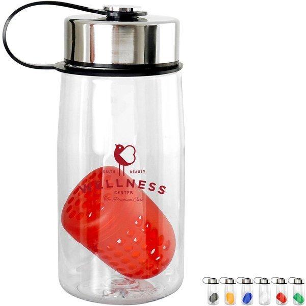 Metal Lanyard Lid Bottle w/ Colorful Floating Infuser, 18oz.