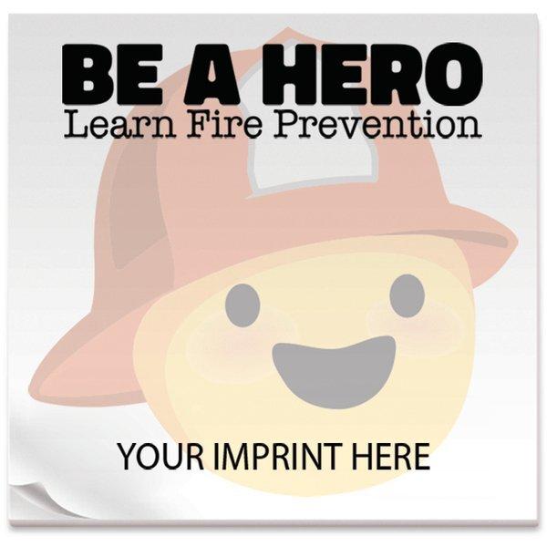 """BIC® Adhesive 25 Sheet Notepad, Be A Hero, 3"""" x 3"""""""