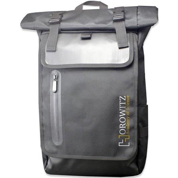 Eugene Roll-Top Polyester Laptop Backpack