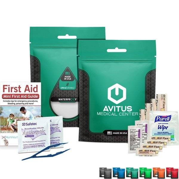 First Aid Kit in Waterproof Pouch