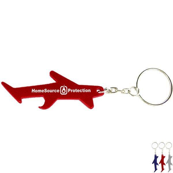 Airplane Aluminum Bottle Opener Key Chain