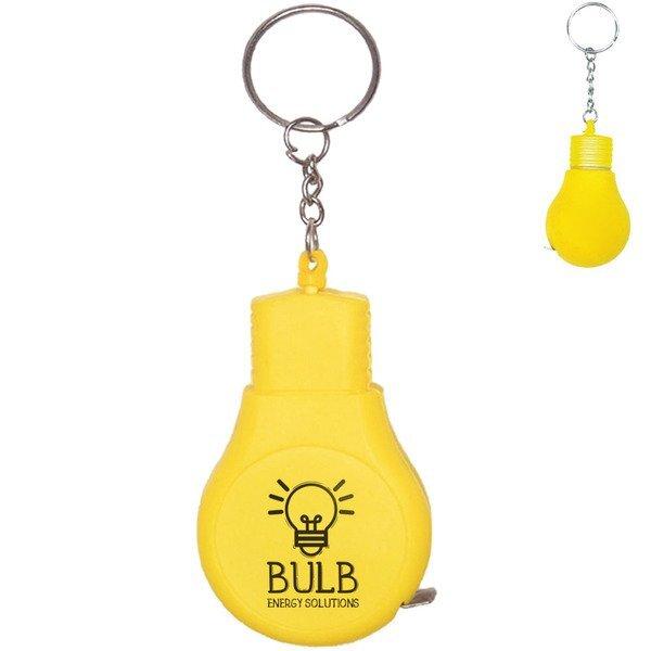 Light Bulb Tape Measure Key Chain
