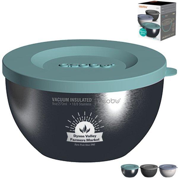 Asobu® 3-Piece Stainless Steel Thermo Bowl Set, 9oz.