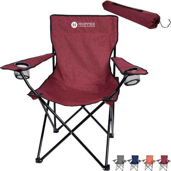Heathered Folding Chair w/ Carrying Bag