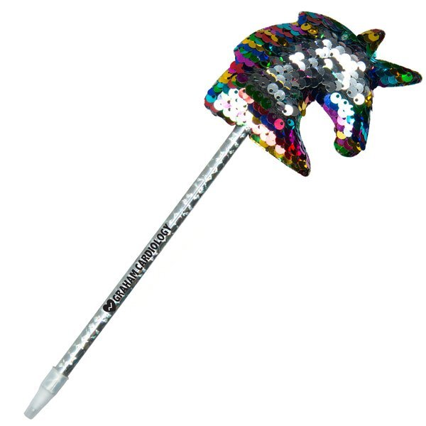 Reversible Sequin Unicorn Pen