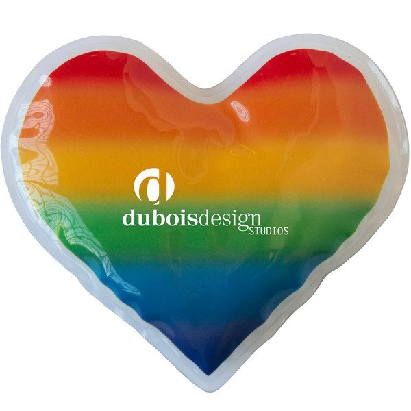 Rainbow Heart Gel Beads Hot & Cold Pack