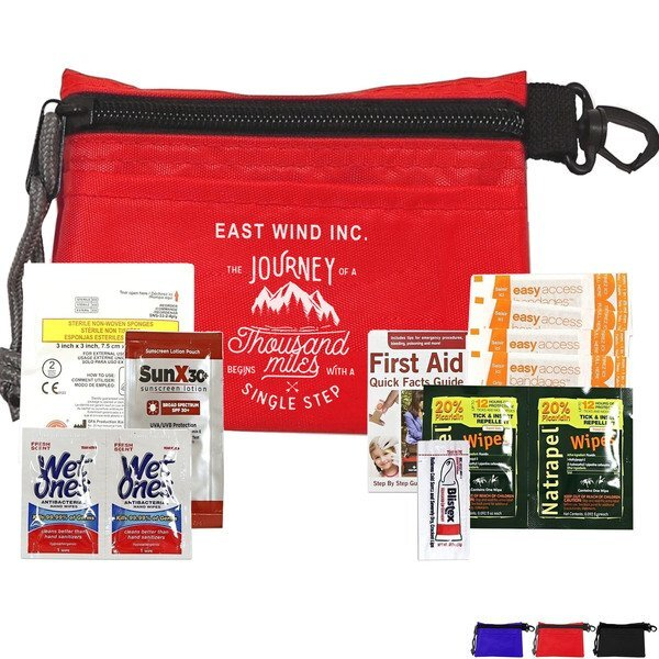 Silver Outdoor Sun & Bug First Aid Kit